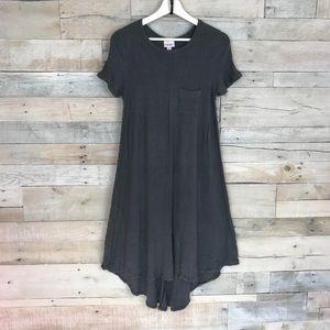 Lularoe Carly Gray Knit High Low Dress Small